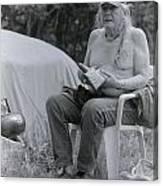 Urban Elder Vern Harper Cleaning Pipes Canvas Print