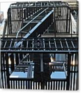 Urban Fabric - Fire Escape Stairs - 5d20592 Canvas Print