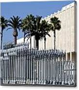 Urban Light Sculpture At The Museum Of Art In Los Angeles Canvas Print