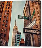 Urban Skyline In Midtown Manhattan With Canvas Print
