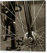Urban Spokes In Sepia Canvas Print