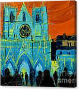 Urban Story - The Festival Of Lights In Lyon Canvas Print