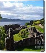 Urquhart Castle Ruins Canvas Print