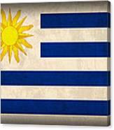 Uruguay Flag Vintage Distressed Finish Canvas Print