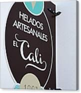 Uruguay Helados Canvas Print
