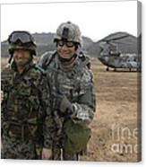 U.s. Army Commander, Right Canvas Print