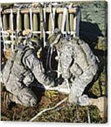 U.s. Army Europe Soldiers Perform Canvas Print