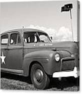 Us Army Ford Staff Car  Canvas Print
