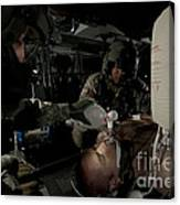 U.s. Army Medics Simulating Ventilation Canvas Print