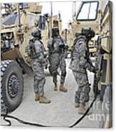 U.s. Army Soldiers Jump Start A Light Canvas Print