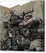 U.s. Army Soldiers Set Up A Tactical Canvas Print
