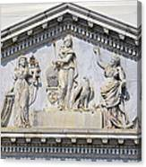 Us Capitol Building Facade Canvas Print