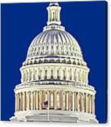 Us Capitol Dome Canvas Print
