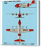 Coast Guard Hc-130 B Hercules Canvas Print