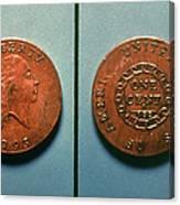 U.s. Coin, 1793 Canvas Print