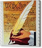 Us Constitution Stamp Canvas Print