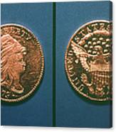 U.s. Currency, 1796 Canvas Print