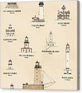 Lighthouses Of The West Coast Canvas Print