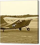 U.s. Military Recon Single Engine Plane Canvas Print