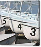 Us Navy Training Sailboats I Canvas Print