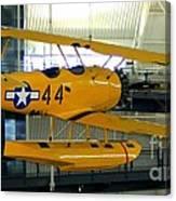 U.s. Navy Yellow Peril Float Biplane Canvas Print