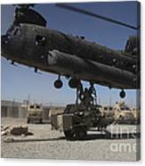 U.s. Soldiers Attach Sling Load Ropes Canvas Print