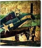 Us Ww II Grumman F4f Wildcat Fighter Plane Canvas Print