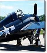 Us Ww II Fighter Plane Canvas Print