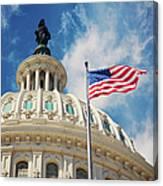 Usa, Columbia, Washington Dc, Capitol Canvas Print