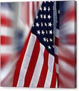 Usa Flags 03 Canvas Print