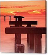Usa, Florida, Boca Grande, Ruined Pier Canvas Print