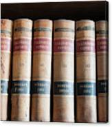 Usa, Nevada Old Law Books In Library Canvas Print
