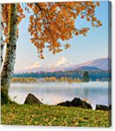 Usa, Oregon, Bend, Fall At Black Butte Canvas Print