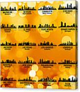 Usa Skylines 3 Canvas Print
