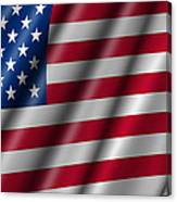 Usa Stars And Stripes Flying American Flag Canvas Print