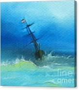 Usa Through The Storm Canvas Print