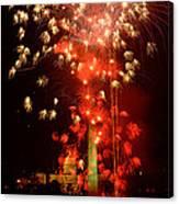 Usa, Washington Dc, Fireworks Canvas Print