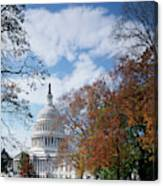 Usa, Washington Dc, View Of Capitol Canvas Print