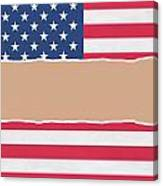 Usa Wrapping Paper Torn Through The Centre Canvas Print