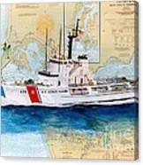 Uscg Alert Coast Guard Chart Map Art Peek Canvas Print