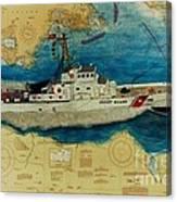 Uscg Cuttyhunk Nautical Chart Art Peek Canvas Print