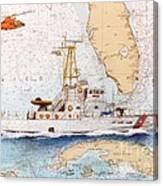 Uscg Sapelo Helicopter Fl Nautical Chart Map Art Peek Canvas Print