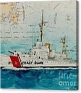 Uscgc Bibb Nautical Chart Cathy Peek Canvas Print