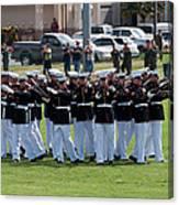 Usmc Silent Drill Platoon Canvas Print