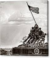 Usmc War Memorial And National Mall Canvas Print