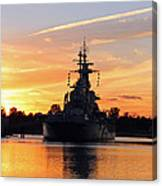 Uss Battleship Canvas Print