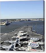 Uss Enterprise Arrives At Naval Station Canvas Print