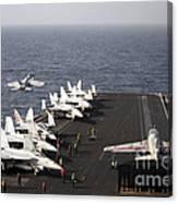 Uss Enterprise Conducts Flight Canvas Print