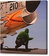 Uss Forrestal Vought Corsair Canvas Print