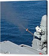 Uss Harry S. Truman Tests The Close-in Canvas Print